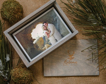 Custom - 4x6x2.5 (2.5 inches deep) Wood print box with enough space for 4x6 prints