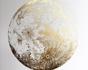 Gold Full Moon print