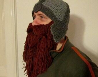 Crochet viking hat pattern crochet beard hat pattern adult size beard hat pattern viking hat lord of the ring hat hobbit hat dwarf hat pattern lord of the rings dwarven helm dwarf helmet dt1010fo