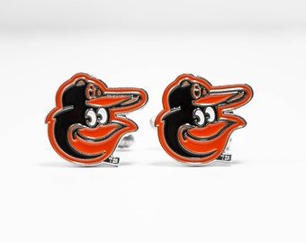 Baltimore Orioles Cuff Links -- FREE SHIPPING with USPS First Class Domestic Mail