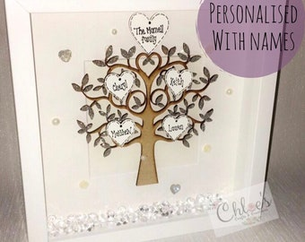 Personalised family tree, Mother's Day gifts, family tree, family gift, generation gift, personalized gift for mom, gift for mums, step mums