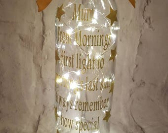 Mum Decorative light up bottle