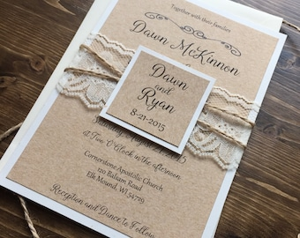 Rustic wedding invitations wedding by dawnmariecreations82 on etsy rustic wedding invitation vintage wedding invitation shabby chic wedding invitation elegant wedding stopboris Gallery
