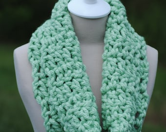 Mint Thick Cowl, Warm Cowl, Thick Cowl, Green Cowl, Light Green Cowl, Soft Cowl