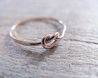 Knot Ring 14k Rose Gold Filled