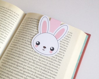 Little Rabbit Magnetic Bookmark - Bunny Bookmarks - Double Sided
