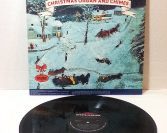 Christmas Organ and Chimes Alexander Goodrich at the Organ Vintage Vinyl 33 LP Record Album Diplomat Christmas Records SX 1712
