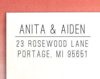 Classic Return Address Stamp | Self Inking Address Stamp | Personalized stamp | Custom Address Stamp | Custom Rubber Stamp,  No. 15