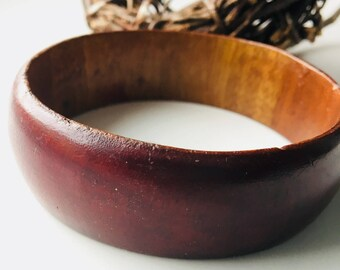 Small Vintage Wooden Bangle, Wooden Bracelet, Etsy, Etsy Jewelry