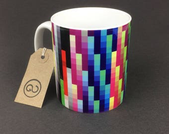 Beautiful, stylish and utterly unique 'PROFILR' ceramic coffee mug. By The Good Continuation Design Company.