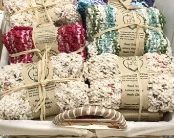 Goat Milk Soap and Handknit Washcloth Gift Set