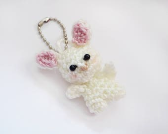 Crochet Bunny Planner Charm/Keychain | Stationery for Erin Condren, Filofax, Kikki K and scrapbooking