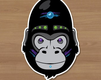 Neon Gorilla Sticker