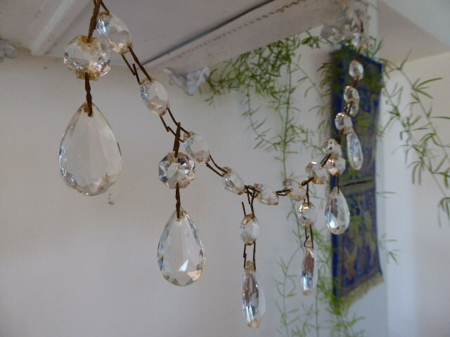 Antique crystal chandelier drops and beads chandelier spares zoom aloadofball Images