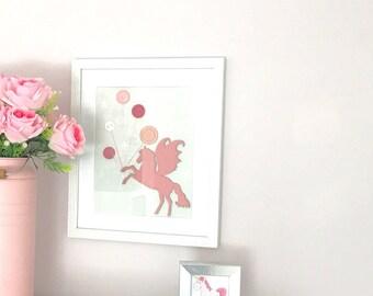 Unicorn button wall hanging