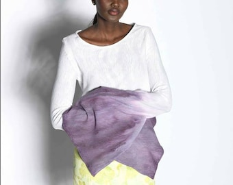 Hand Dyed Split Sleeve Knit Top