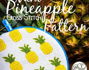 Mini Pineapple Cross Stitch Pattern