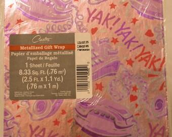 Vintage Metallized Gift Wrap/Carlton Cards