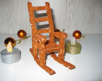 Christmas ornament pegs rocking chair
