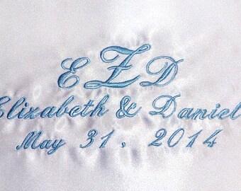 Personalized Wedding Dress Label, Custom Embroidered, Wedding favor, Bridal Shower gift.