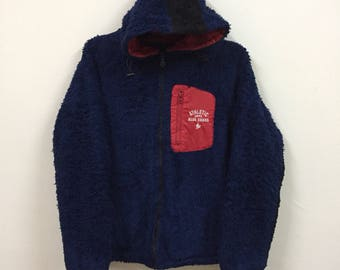 Vintage Athletic Elmo Fur Hooded Light Jacket