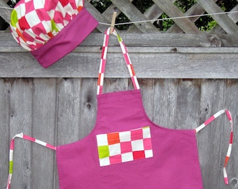Childs Apron and matching chef hat