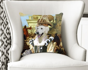 Kuvasz Art Pillow Case Throw Pillow   Perfect DOG LOVER Gift for Her Gift for Him