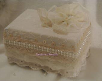 shabby, wedding ring box wedding ring box, wedding, shabby wedding, box old lace