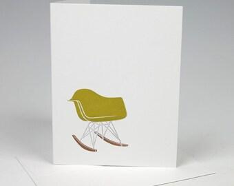 Eames Rocker Letterpress Card