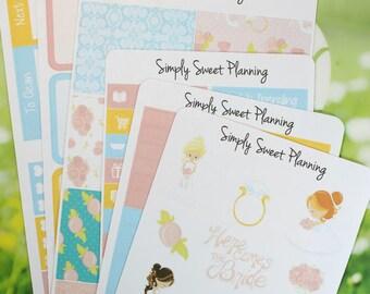 Wedding Planner Sticker Kit - Happy Planner - Erin Condren - Plum Planner - Functional Stickers - Matte - Weekly Planner