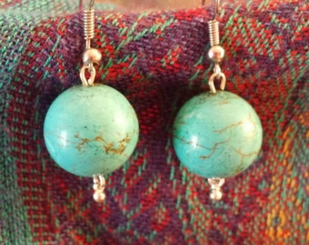 Gorgeous genuine turquoise earrings