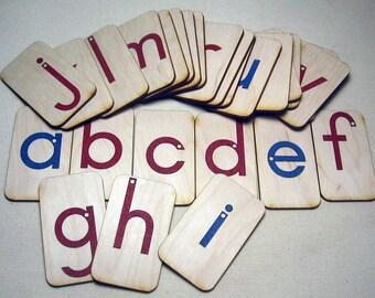 Mini LOWERCASE Sandpaper Letters
