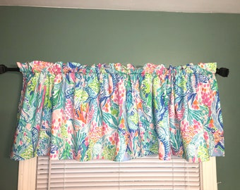 Lilly Custom Made Valance Curtains In Pink Gypsea Or Mermaids Cove PB Kids  Sheets Nursery Kids