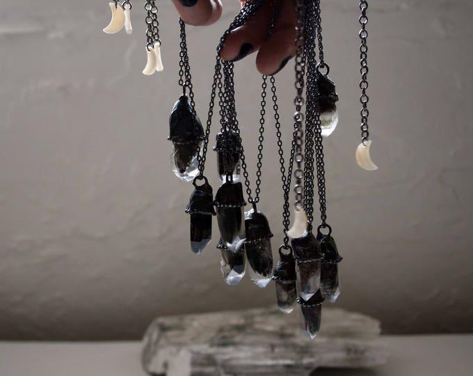 Small Tibetan Phantom Quartz Crystal Necklace