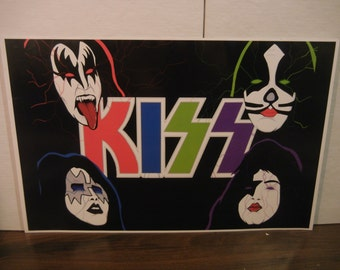 Comic Con Artist KISS Print High quality Rare Bright Colors Nice
