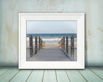 Myrtle Beach Wall Art, Beach Photography, Wall Decor, Beach Theme Decor, Ocean Art, Nautical, Office Decor, Coastal, Water, Waves, Photo