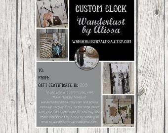 Gift Certificate - Custom Photograph Clock