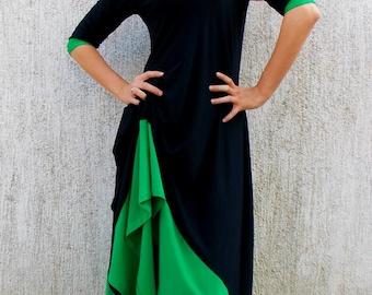 Summer Dress, Black Maxi Dress TDK65, Black Summer Dress, Party Dress, Cocktail Dress, TEYXO Dress