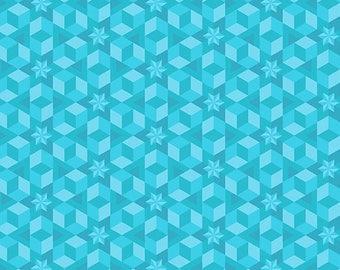Alison Glass - Diving Board - Starfish in Sea Glass - (A-8638-T) - 1/2 Yard++