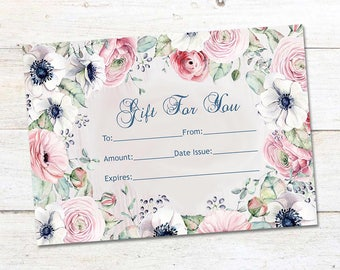 Gift Certificate, Surprise gift, Certificate, Printable Bucks,Cash, Certificate surprise,Printable Business , Pop Up Shop Cards