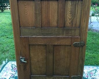 Antique oak icebox