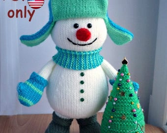 Knitting pattern - Snowman with a X-mas Tree amigurumi doll (English)