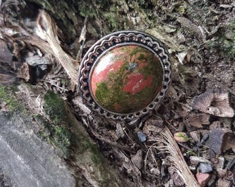 Unakite ring