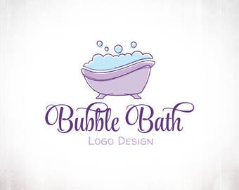 Premade Logo Design • Bubble Bath