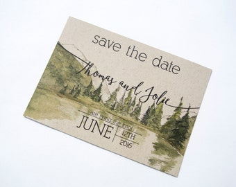 Rustic Woodland Save the Date