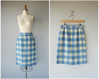1950s Wool Pencil Skirt | 50s Skirt | 1950s Wool Skirt | 60s Skirt | 1960s Skirt | Plaid Skirt (medium)