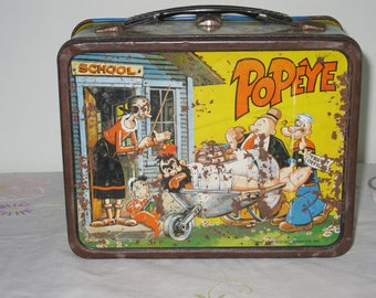 Vintage 1964 Popeye Lunch Tin