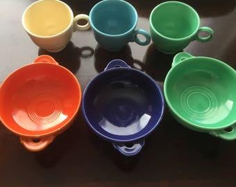 1940s Vintage Fiestaware Cream Soup Bowls