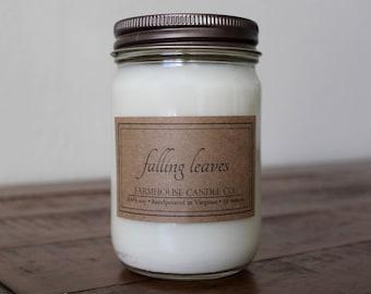 Falling Leaves Soy Mason Jar Candle - 12 ounce