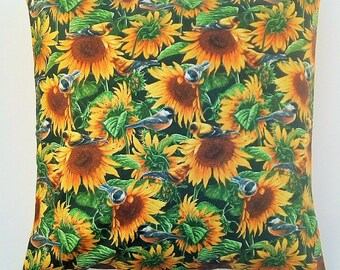 Sunflower pillow, Floral pillow, Modern cushion covers for Couch